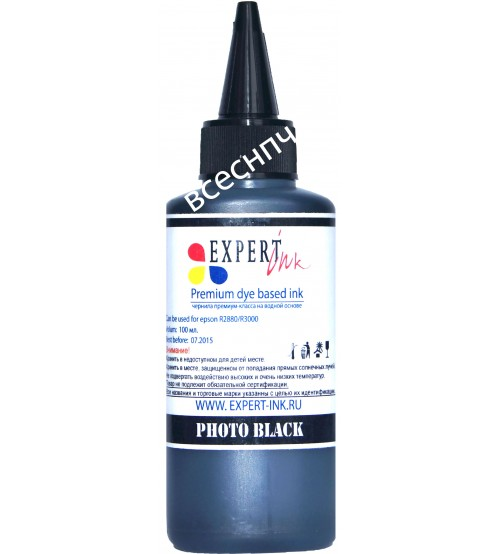 Фоточернила Expert-ink R2880/3000 PBk 100ml